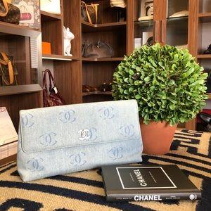 Denim Chanel Clutch